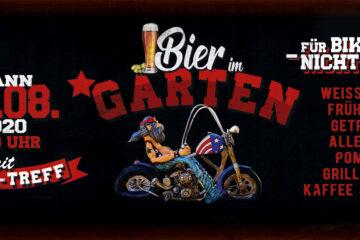 Biergarten – mit Bikertreff