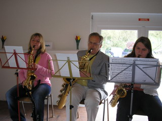 Musizieren in kleinen Gruppen.