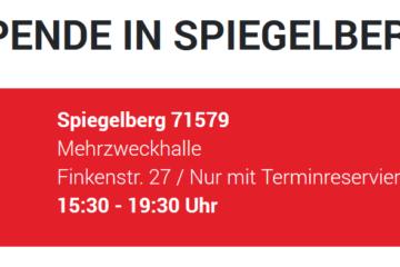 Blutspende in Spiegelberg